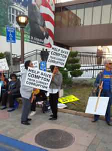 NABSIO - compton corruption picketers